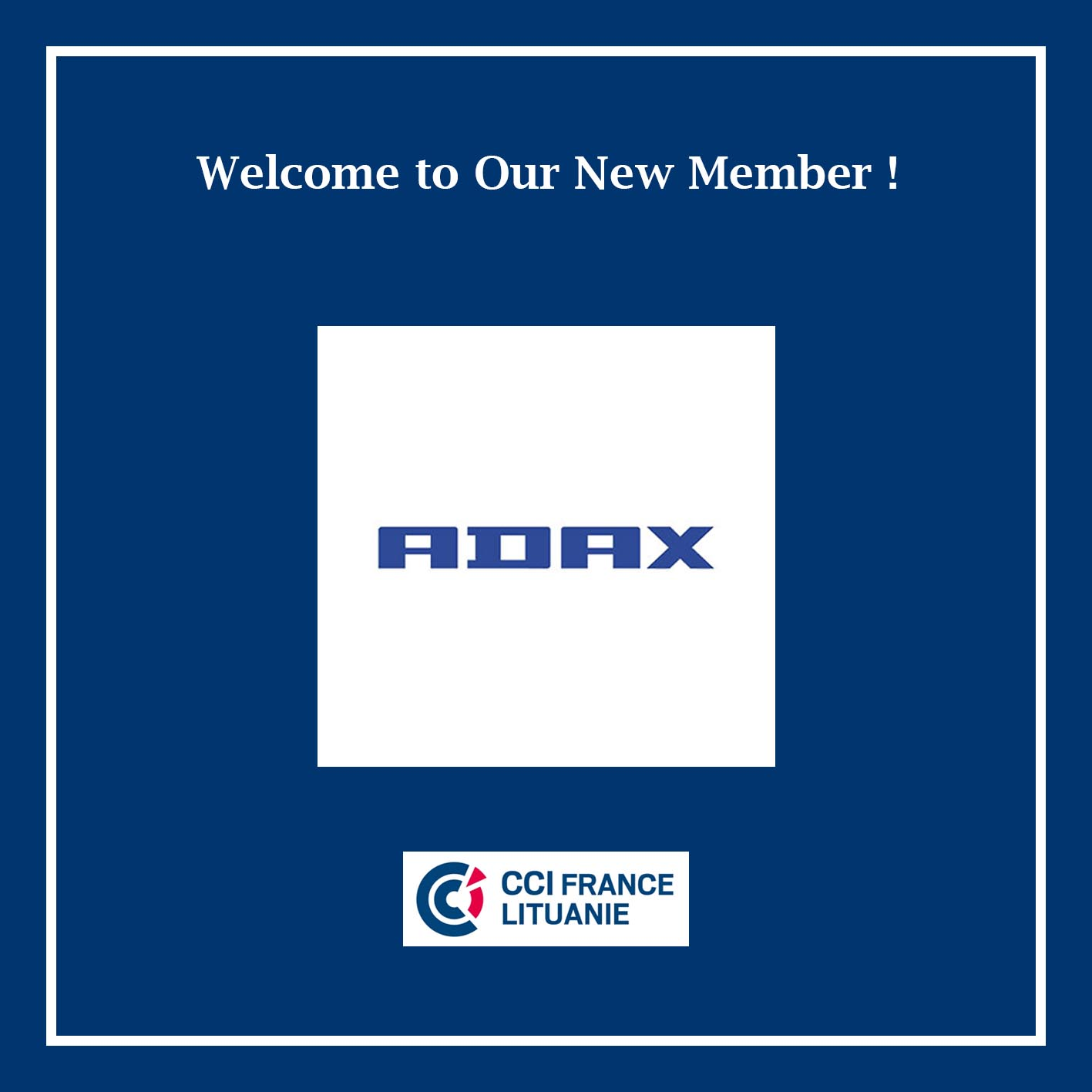 Welcome New Member – ADAX!